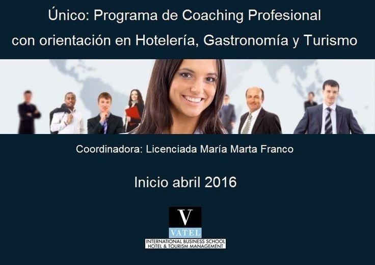 Vatel en Buenos Aires inicia su programa de #Coaching Profesional con #orientación en #Hotelería, #Gastronomía y #Turismo que se dictara bajo dos formatos:  - Cursada regular: 1 vez por semana de noche - Cursada intensiva: 2 sábados por mes  Más información: http://bit.ly/1QTs3OL