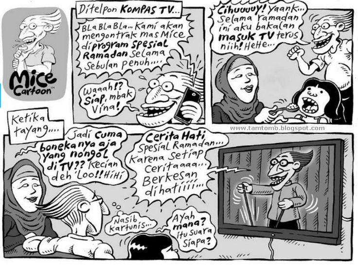 Mice Cartoon, Kompas Minggu 12 Juli 2015: Masuk TV Selama #Ramadhan