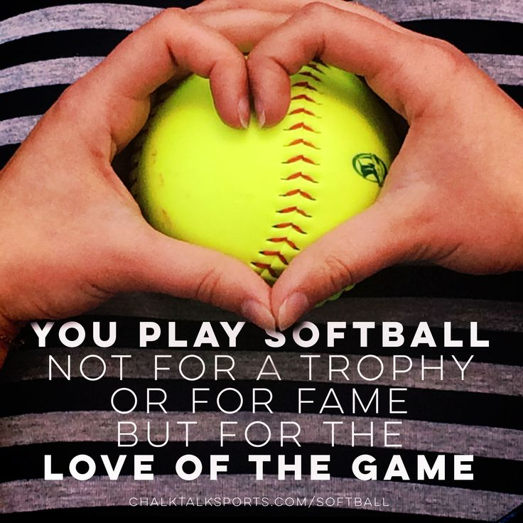You do it for the love of the game.