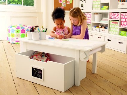 brilliant playtable with plenty of storage space that can double up as a coffee table.