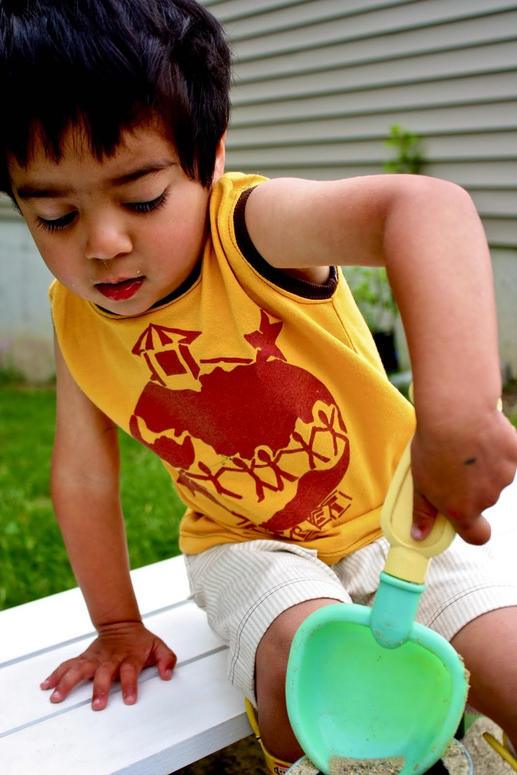 Boy's Muscle Shirt Tutorial-how to using a regular t-shirt. Maybe I'll try this because I have such a hard time finding solid colored muscle shirts for the boys. Not a fan of characters, etc on the front.