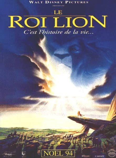 Affiche du dessin animé Le Roi Lion sortie en 1994