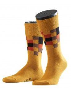 FALKE socks in yellow: Top Square