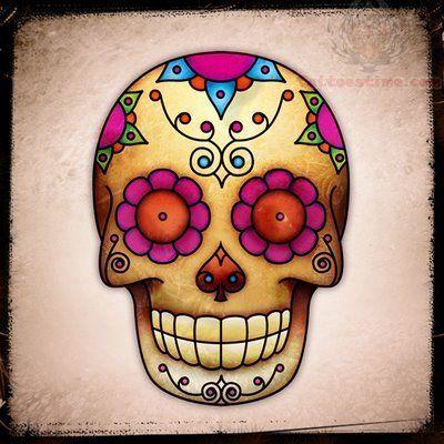 Sugar Skull Tattoos Designs & Ideas : Page 92