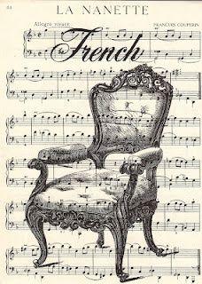 Free Vintage Printable - French Chair Sheet #Christmas Decor| http://my-christmas-decor-styles.blogspot.com