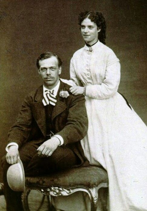 The future Alexander III and Maria Feodorovna (Dagmar) of Russia. Parents of Nicholas II - 1866.