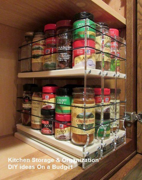 10 modest kitchen area organization and diy storage ideas rh pinterest com