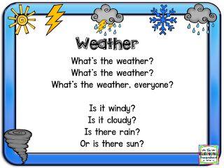 Schedulin' Sunday! Weather!