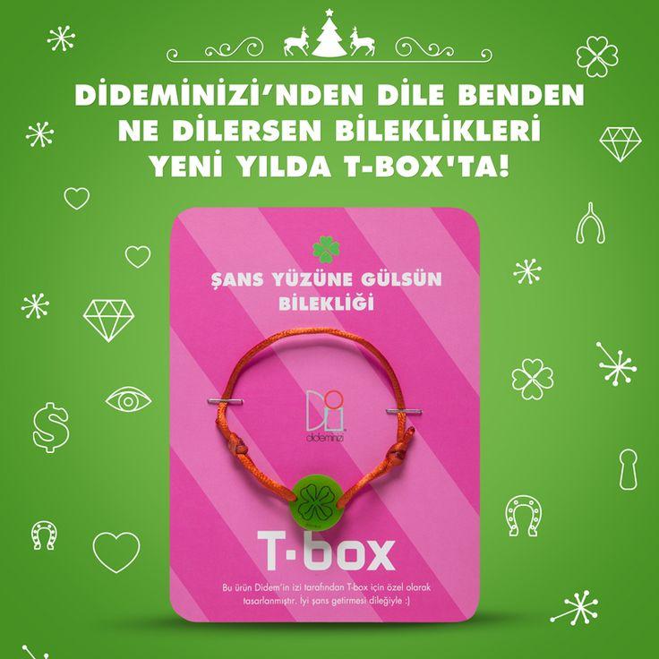 """Didemin İzi for T-box! Yeni yılda """"şans yüzüne gülsün"""" bilekliği #dideminizi #dideminizifortbox #aksesuar #bileklik"""