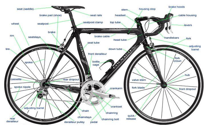 Partes de la bici en ingles