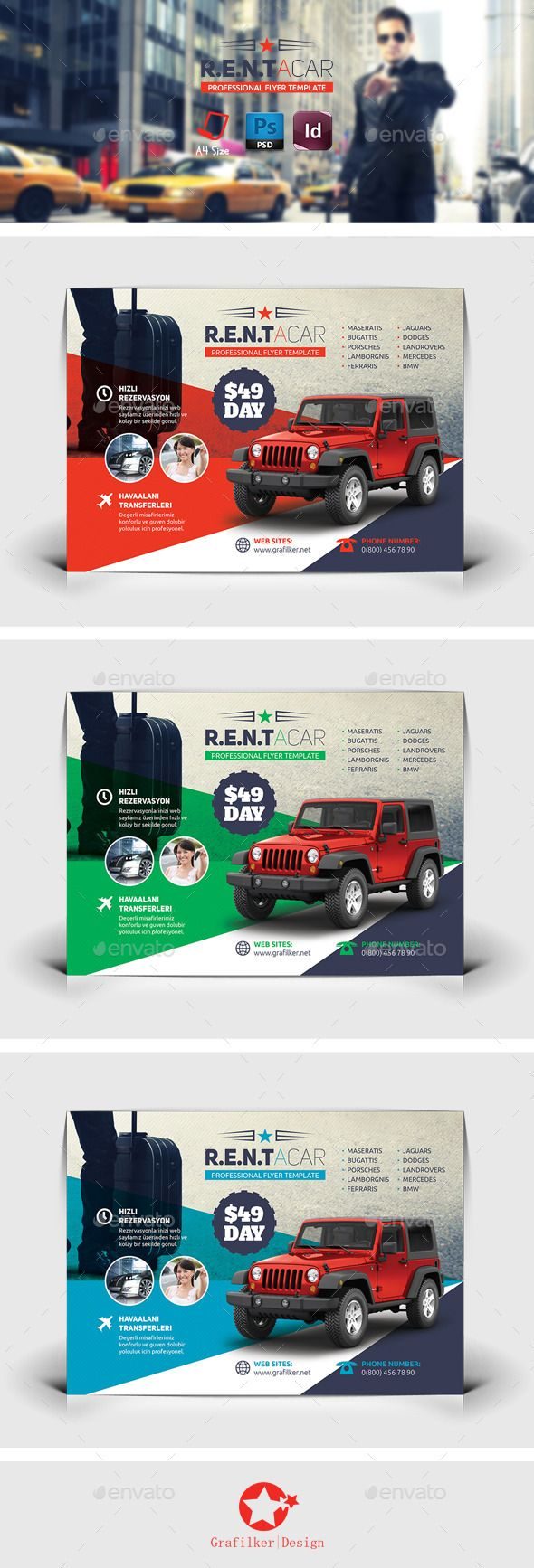 Rent A Car Flyer Template PSD | Buy and Download: http://graphicriver.net/item/rent-a-car-flyer-templates/8838464?WT.ac=category_thumb&WT.z_author=grafilker&ref=ksioks