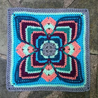Very pretty -- Lise square by Polly Plum. Free pattern