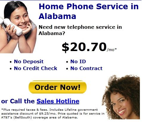 free home phone service in alabama internet service unlimited long distance government assisted