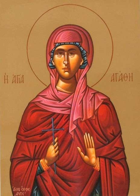 Saint of the Day: St. Agatha (East/West). February 5, 2013