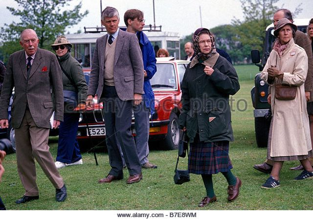 HRH Queen Elizabeth II at the Royal Windsor Horse Show 13 May 1989 - Stock Image