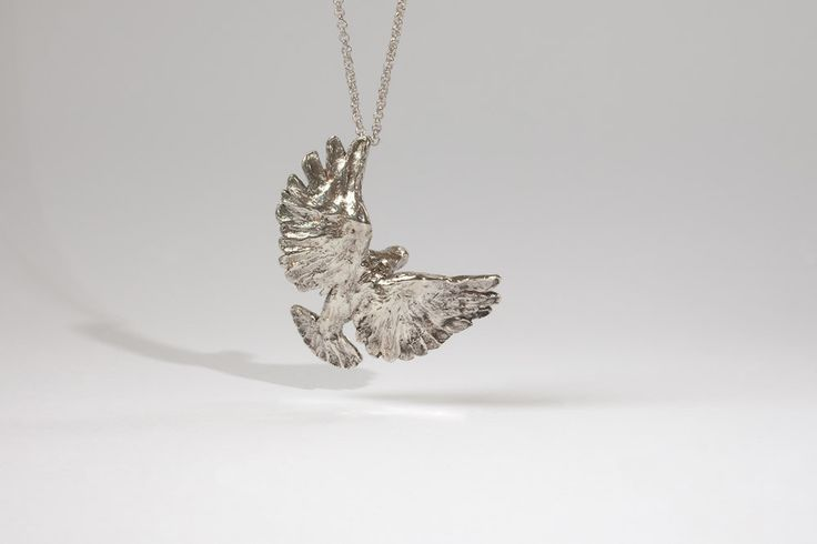 silver bird by Liplivive on Etsy