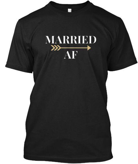 Married Af T Shirt Wedding Tee