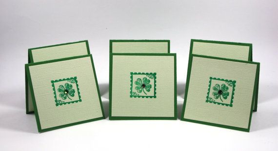 St Patrick Mini Card Handmade Cards Patrick's Day by PABDElegance, $8.75
