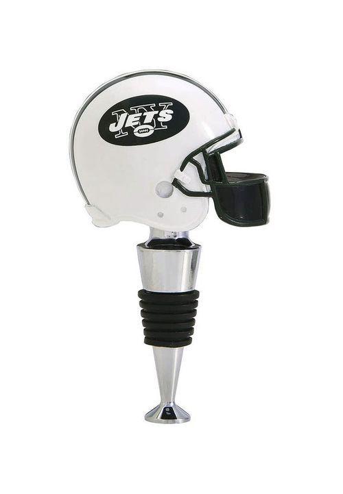 New York Jets Football Helmet Wine Bottle Stopper