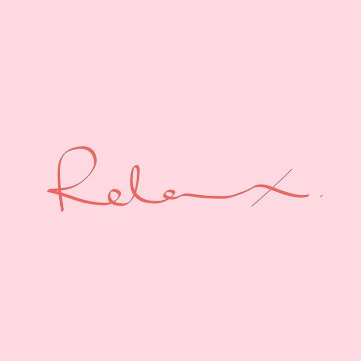 one word. #relax by Passant Adel.