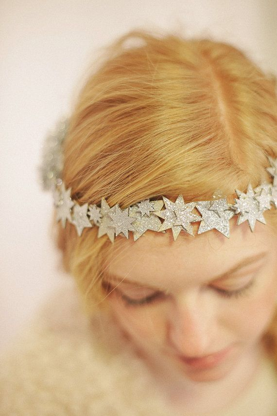 Glitter Star Crown Star Circlet Winter Crown by EstivalCrowns, $36.00