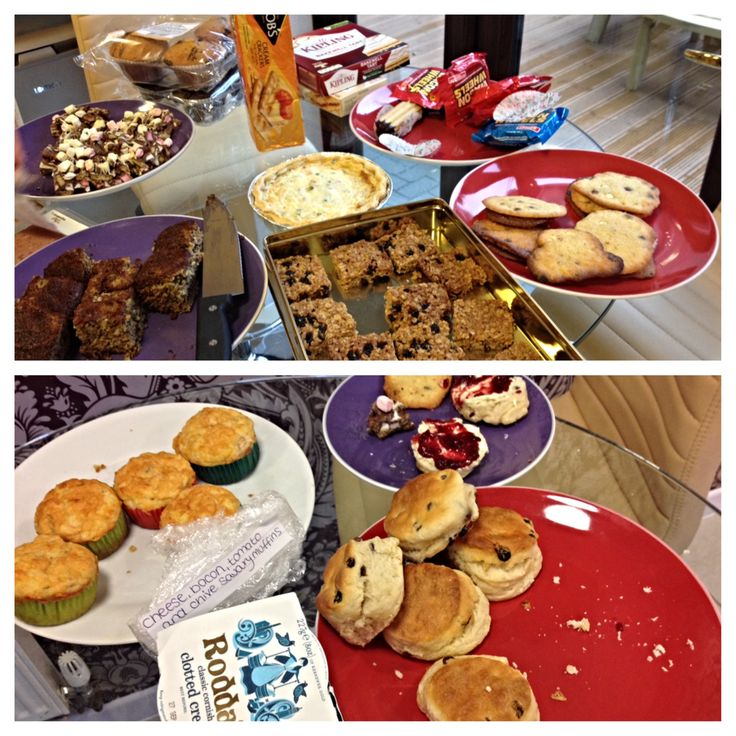 We are all dressed in denim and indulging in some delicious cakes raising money for @jeansforgenes day! #JeansforGenes