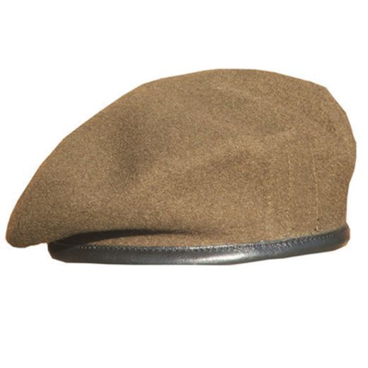 British Army Khaki Beret Officers Lined New Wool Size 7.0 #Army #Beret