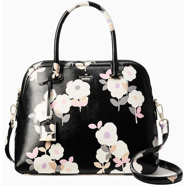 Kate Spade Cameron Street Floral Margot (625 BRL) ❤ liked on Polyvore featuring bags, handbags, purses, floral purse, kate spade handbag, flower purse, kate spade and flower bag