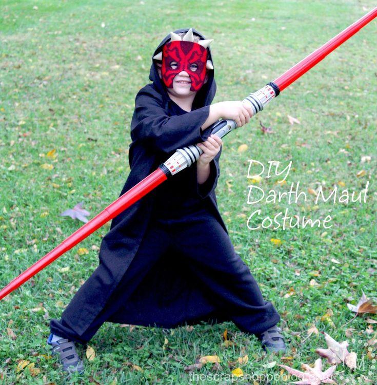 Love this DIY Darth Maul costume!!!