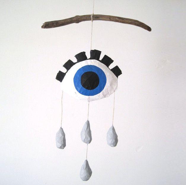 Crying Eye Mobile Blue