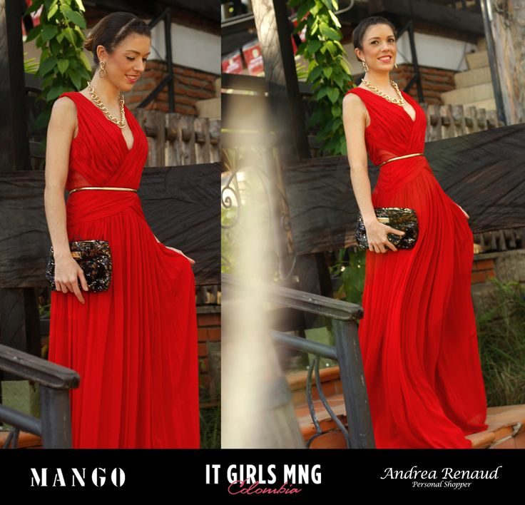 Think Glam Red for Christmas Gala Event :) Mango It Girl Andrea Renaud