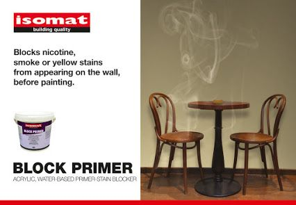Ensure a perfect result on your walls, blocking tough stains from smoke, nicotine, exhaust fumes, mildew, water-soluble markers, pencil stains etc., before painting them! BLOCK PRIMER is an acrylic, water-based, white primer which blocks these persistent stains from appearing on the newly painted surface. BLOCK PRIMER is ideal, even for heavily polluted spaces, such as cafeterias, hospitals and other public places. It is odorless, thus environmentally and user friendly.