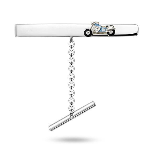 Motorsykkel slipsnål i sølv 925.