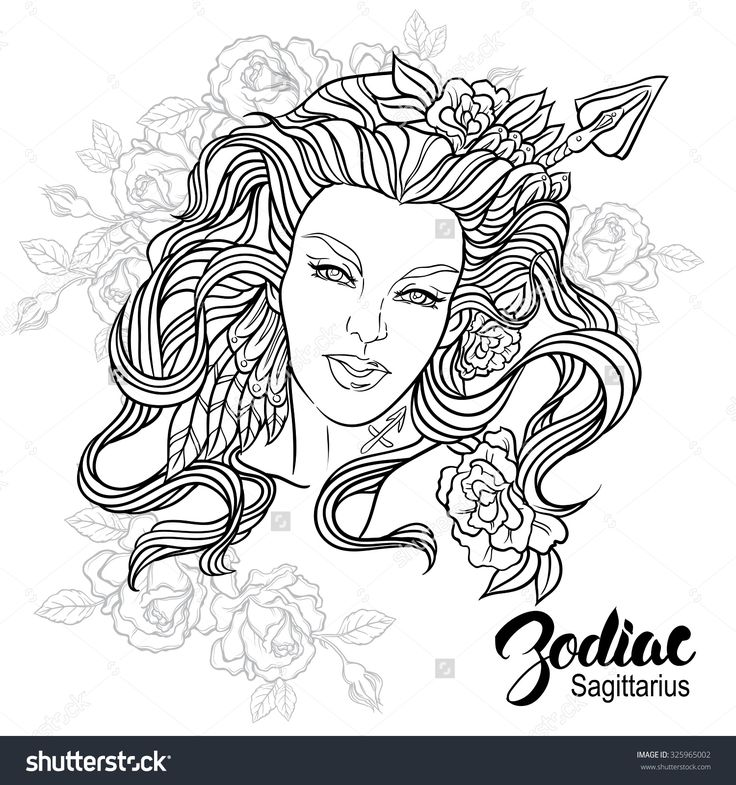 sagittarius coloring pages - photo #24
