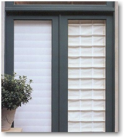Hunter Douglas Vignette Modern Roman Shades vs. traditional roman shades (patio doors)