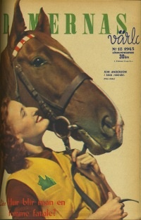 Damernas Värld, fashion, fashion magazine, horse, 40's, retro. More vintage fashion: http://damernasvarld.se/arkivet/