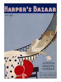 Harper's Bazaar  july 1930.  |  via vintage Harpers Bazaar covers - the Fashion Spot