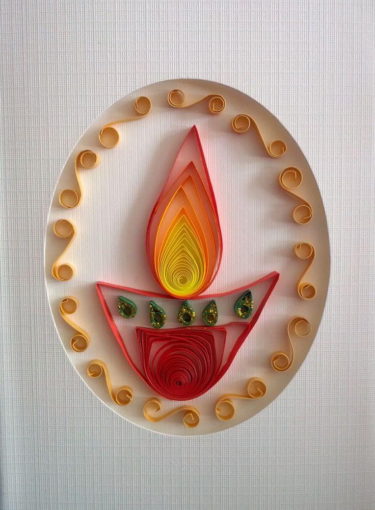 Quilling - Diwali Greeting Card