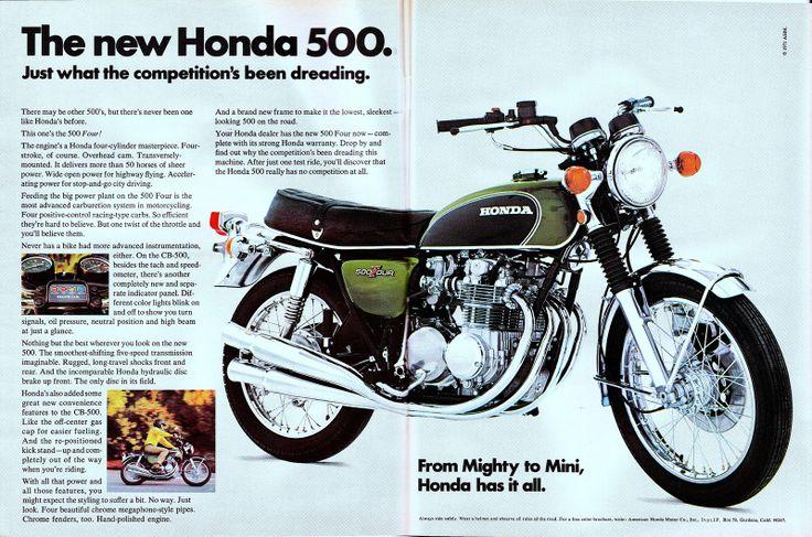 Vintage Brochures: Honda CB 500 1971 (Usa)  #honda #cb500