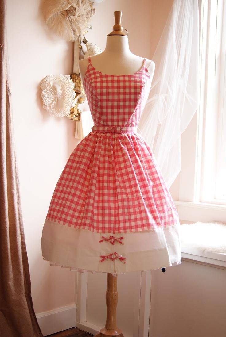 Xtabay Vintage Clothing Boutique - Portland, Oregon: Summer Dresses, Vintage 1950S, 1950S Dresses, Dresses Vintage, Pink Gingham, Clothing Boutiques, 1950S Pink, Portland Oregon, Vintage Clothing