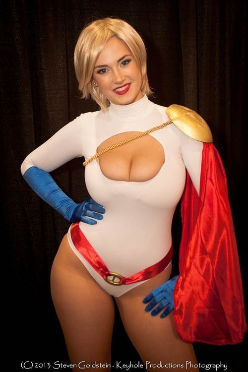 power girl cosplay nipple