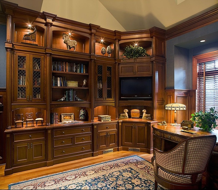 122 best images about man 39 s study on pinterest ralph lauren man office and masculine home offices Traditional home library design ideas