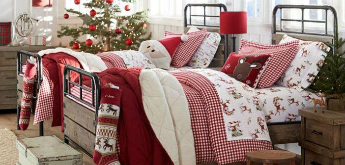 kerst slaapkamer versieren decoreren