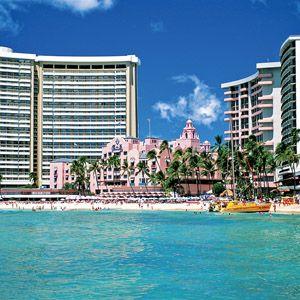 Sheraton Waikiki and royal Hawaiian hotel
