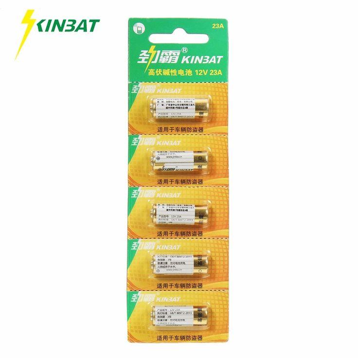KINBAT 5pcs/card 12V 23A Alkaline Battery A23 E23A MN21 MS21 V23GA L1028 GP23A Super Alkaline Dry Battery For Doorbell Alarm