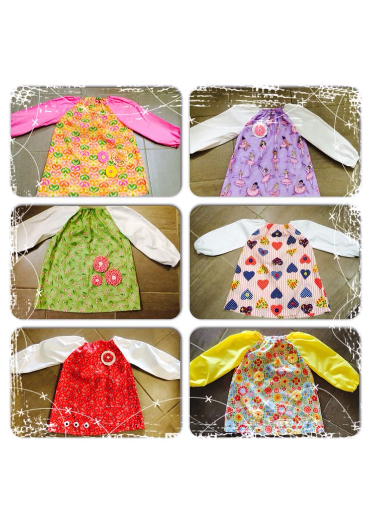 Girls Paint Smocks - $24 ea with matching Library Bags avail for $10  Other design also avail