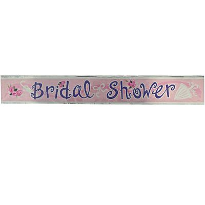Bridal Shower Foil Banner - 12 ft - Hen & Bride Party Shop - Bridal Shower Supplies - The Bridal Party - Bride and Hens Sashes - $4.95 See more at http://thebridalparty.com.au/