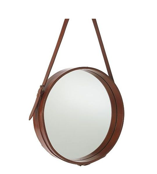 Current obsession round bathroom vanity mirrors leather - Round mirror over bathroom vanity ...