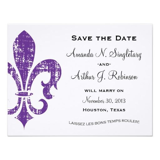 50 best by invite only images on pinterest cards invitation new orleans save the date purple card stopboris Image collections