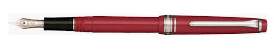 Sailor Professional Gear Slim Framboise w/ Silver Trim F Fountain Pen